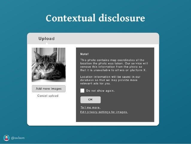@axbom Contextual disclosure