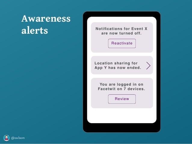 @axbom Awareness alerts