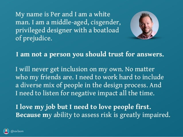 @axbom I will never get inclusion on my own. No matter who my friends are. I need to work hard to include a diverse mix of...