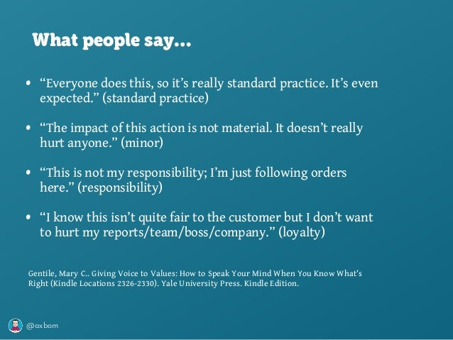 """@axbom • """"Everyone does this, so it's really standard practice. It's even expected."""" (standard practice) • """"The impact of ..."""