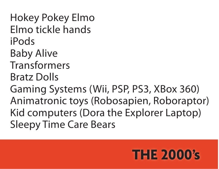 Most Popular Children S Toys By Decade