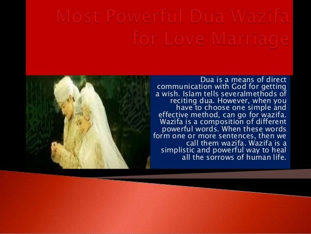 Most powerful dua wazifa for love marriage