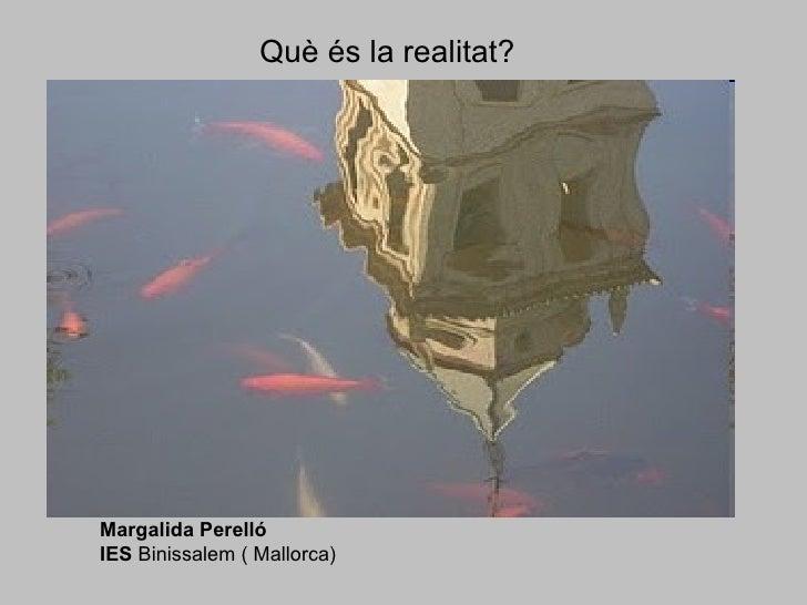 Què és la realitat? Margalida Perelló  IES  Binissalem ( Mallorca)