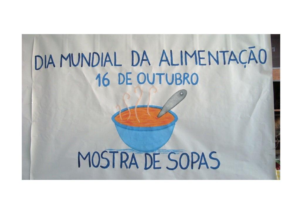 Dia da Alimentação - Mostra sopas
