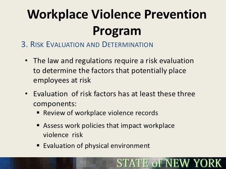what are the 4 types of workplace violence