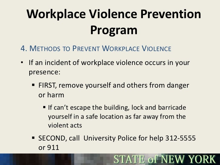 a study of workplace violence 2014-6-11 workplace violence millions of workers  • according to a recent national study by the  nurses who reported being victims of physical violence in the workplace.