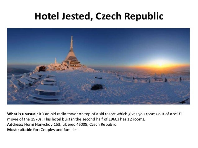 Most unusual hotels of the world for Quirky hotels in prague
