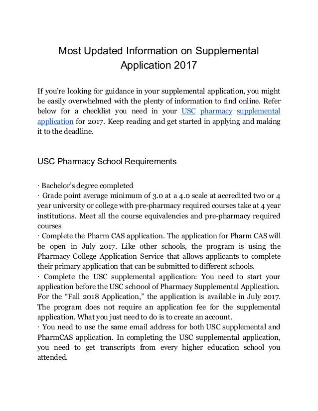 Pharmacy school application essay