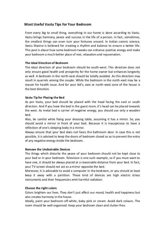 Most Useful Vastu Tips For Your Bedroom