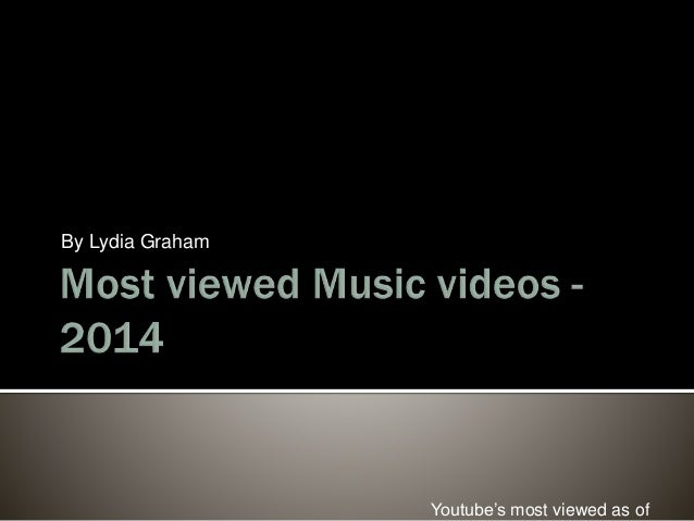 Most Viewed Music Videos 2014