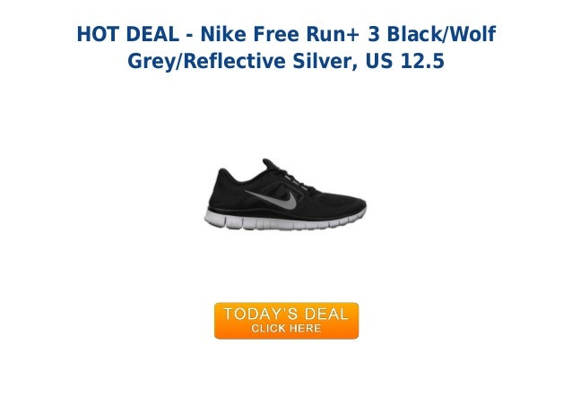 47b26939847d3 ... promo code for hot deal nike free run 3 black wolfgrey reflective  silver us 12.5 db294