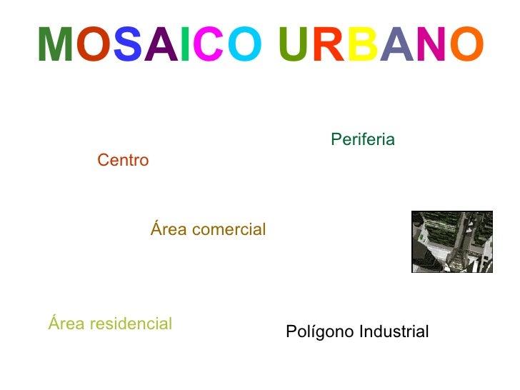 Centro M O S A I C O   U R B A N O Periferia Área residencial Área comercial Polígono Industrial
