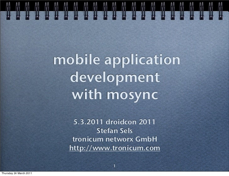 mobile application                          development                           with mosync                            5...