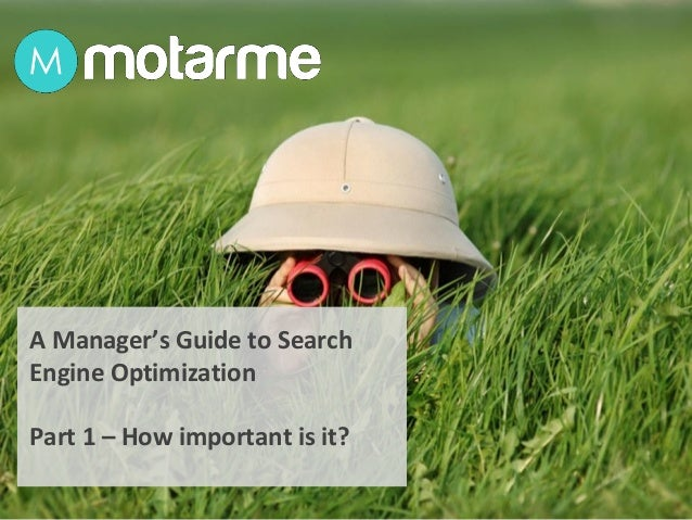 A Manager's Guide to Search Engine Optimization Part 1 – How important is it?