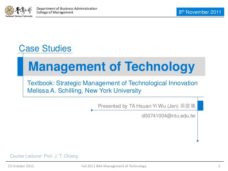schilling strategic management essay Answer the quiz questions on the file using this book strategic management of technological innovation 4th ed – melissa a schilling (mcgraw-hill, irwin, 2013) academic essay.