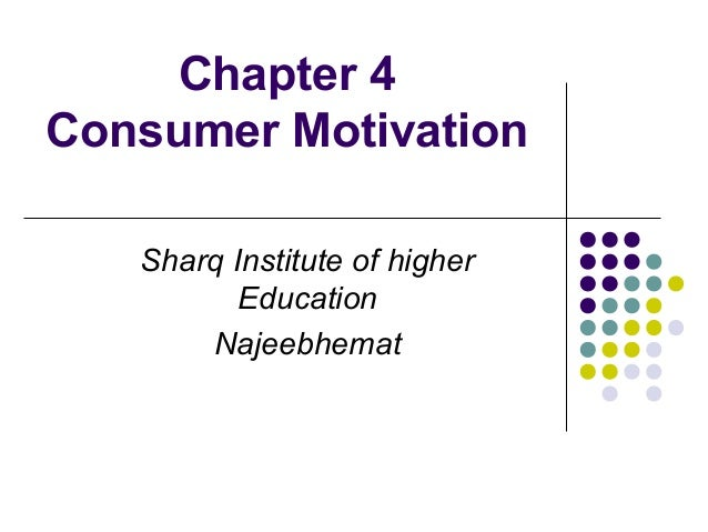 Chapter 4 Consumer Motivation Sharq Institute of higher Education Najeebhemat