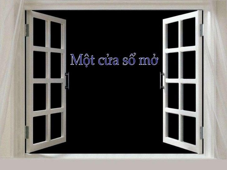 Một cửa sổ mở