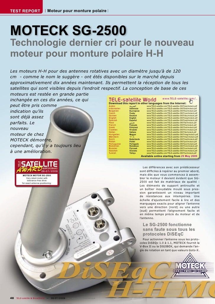 TEST REPORT                       Moteur pour monture polaire     MOTECK SG-2500 Technologie dernier cri pour le nouveau m...