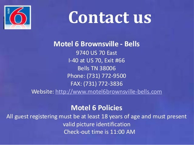 Motel 6 brownsville, Hotels in Bells Tennessee