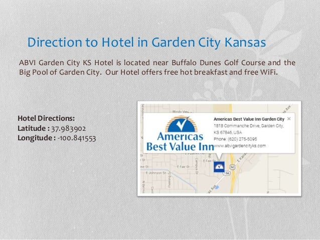 ABVI Garden City KS Hotel near The Big Pool Garden City KS