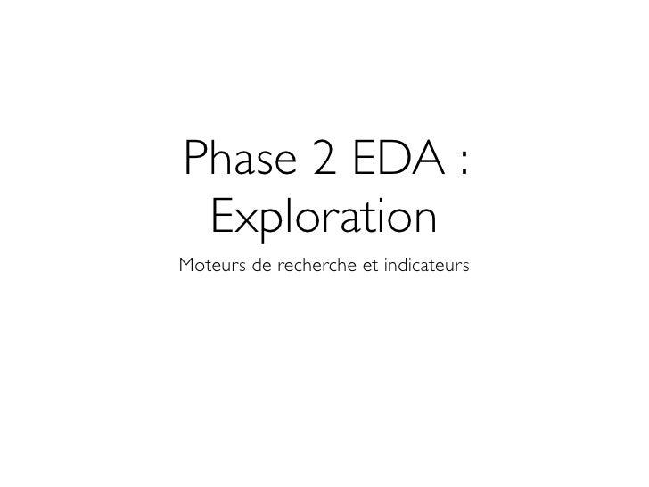 Phase 2 EDA :  Exploration Moteurs de recherche et indicateurs