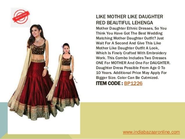 b944643e95 ... 5. LIKE MOTHER LIKE DAUGHTER RED BEAUTIFUL LEHENGA Mother Daughter  Ethnic Dresses ...