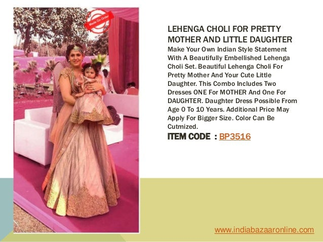 0d3acefc92 ... 7. LEHENGA CHOLI FOR PRETTY MOTHER AND LITTLE DAUGHTER ...