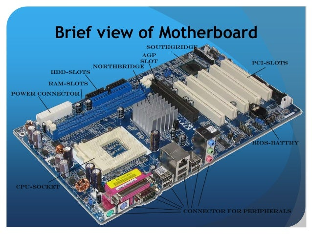 Basic Components Of A Motherboard: Motherboard Arch. & Component