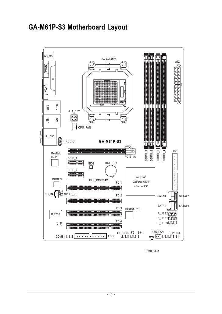 laptop motherboard diagram with labels