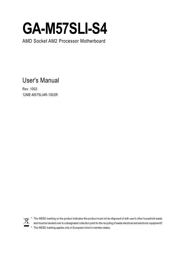 gigabyte ga m57sli s4 manual