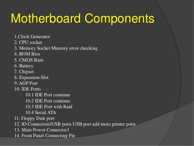 Motherboard Notes Pdf