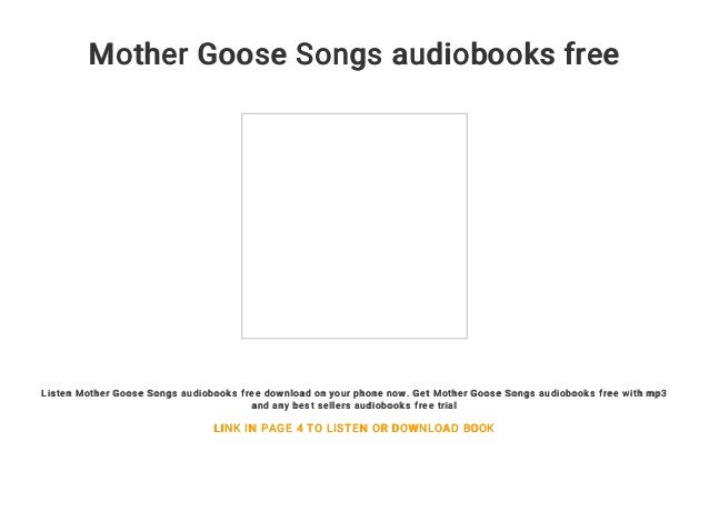 Mother Goose Songs Audiobooks Free