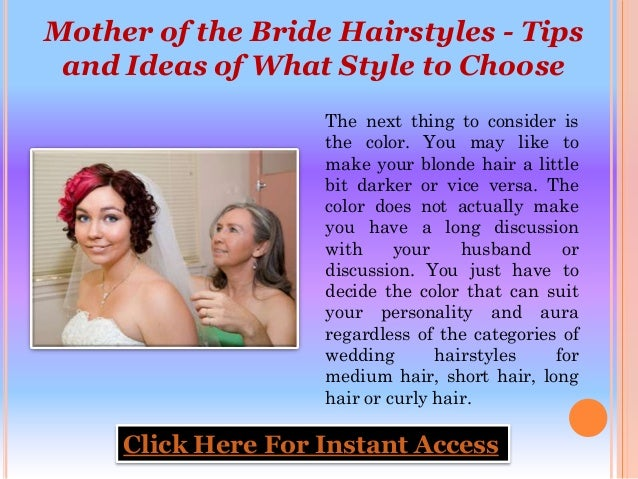 Mother Of The Bride Hairstyles Tips And Ideas Of What Style To Choo