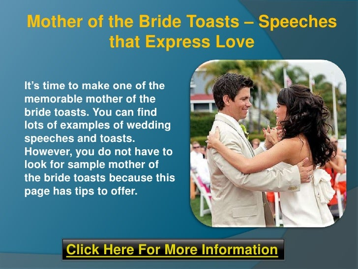 Mother Of The Bride Toasts Speeches That Express Love