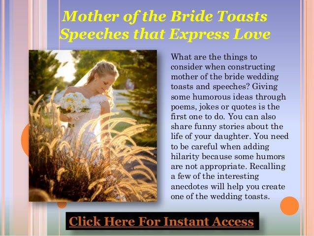 Mother of the Bride Speech Tips