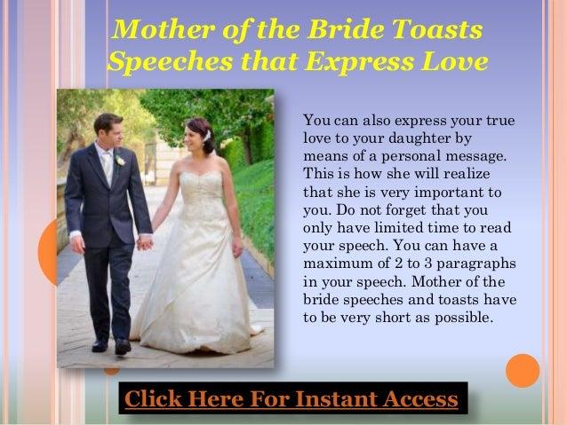 Mother of Bride Wedding Speech – fashion dresses