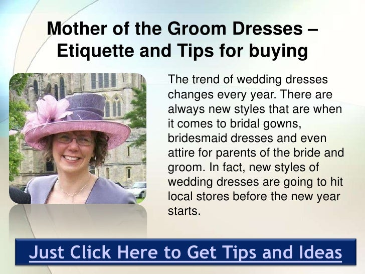 Wedding Etiquette Mother Groom Dress