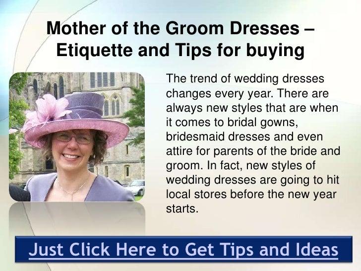 Wedding Etiquette Mother Groom Dress