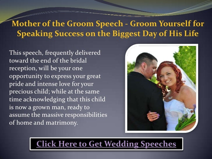 Grooms Speech To Bride Examples: Mother Of The Groom Speech Groom Yourself For Speaking