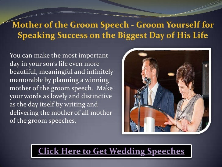 How Long Should A Grooms Speech Be: Mother Of The Groom Speech Groom Yourself For Speaking