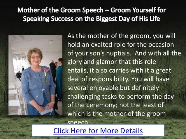 Mother Of The Groom Speech Groom Yourself For Speaking