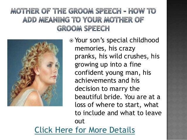 Groom's Mother Wedding Speech