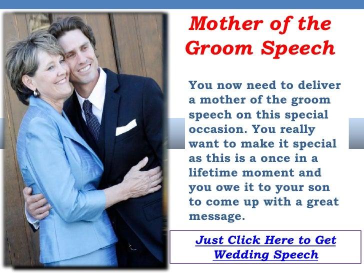 Grooms Speech To Bride Examples: Mother Of The Groom Wedding Speeches