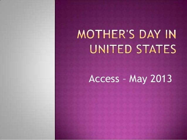 Access – May 2013