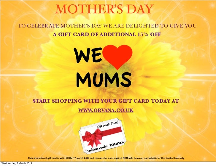 MOTHER'S DAY            TO CELEBRATE MOTHER'S DAY WE ARE DELIGHTED TO GIVE YOU                                          A ...