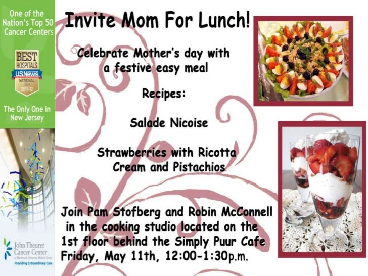 Fun Food Fridays Mothers Day