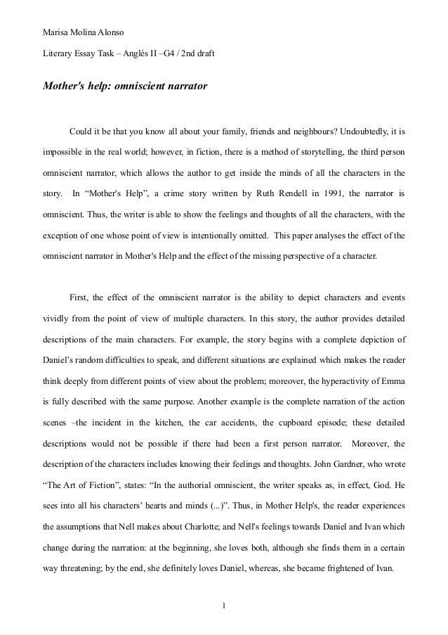 mother s help essay marisa molina alonso literary essay task angles ii g4 2nd draft mother s help