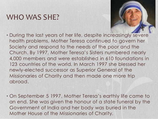 mother teresa life story in english