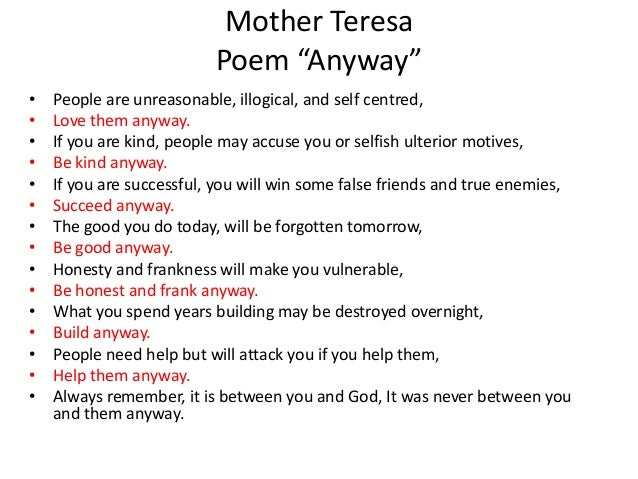 Mother teresa quotes love them anyway inspiration mother teresa mother teresa quotes love them anyway captivating mother teresa power point altavistaventures Gallery