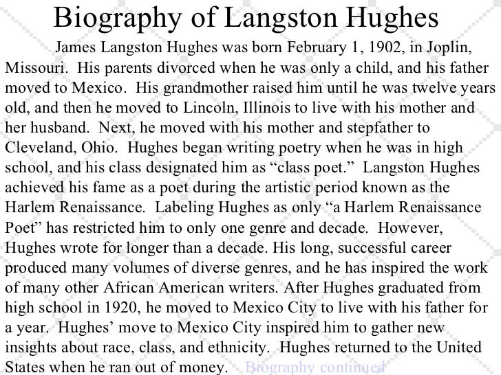 essay on mother to son by langston hughes Open document below is an essay on mother to son by langston hughes from anti essays, your source for research papers, essays, and term paper examples.